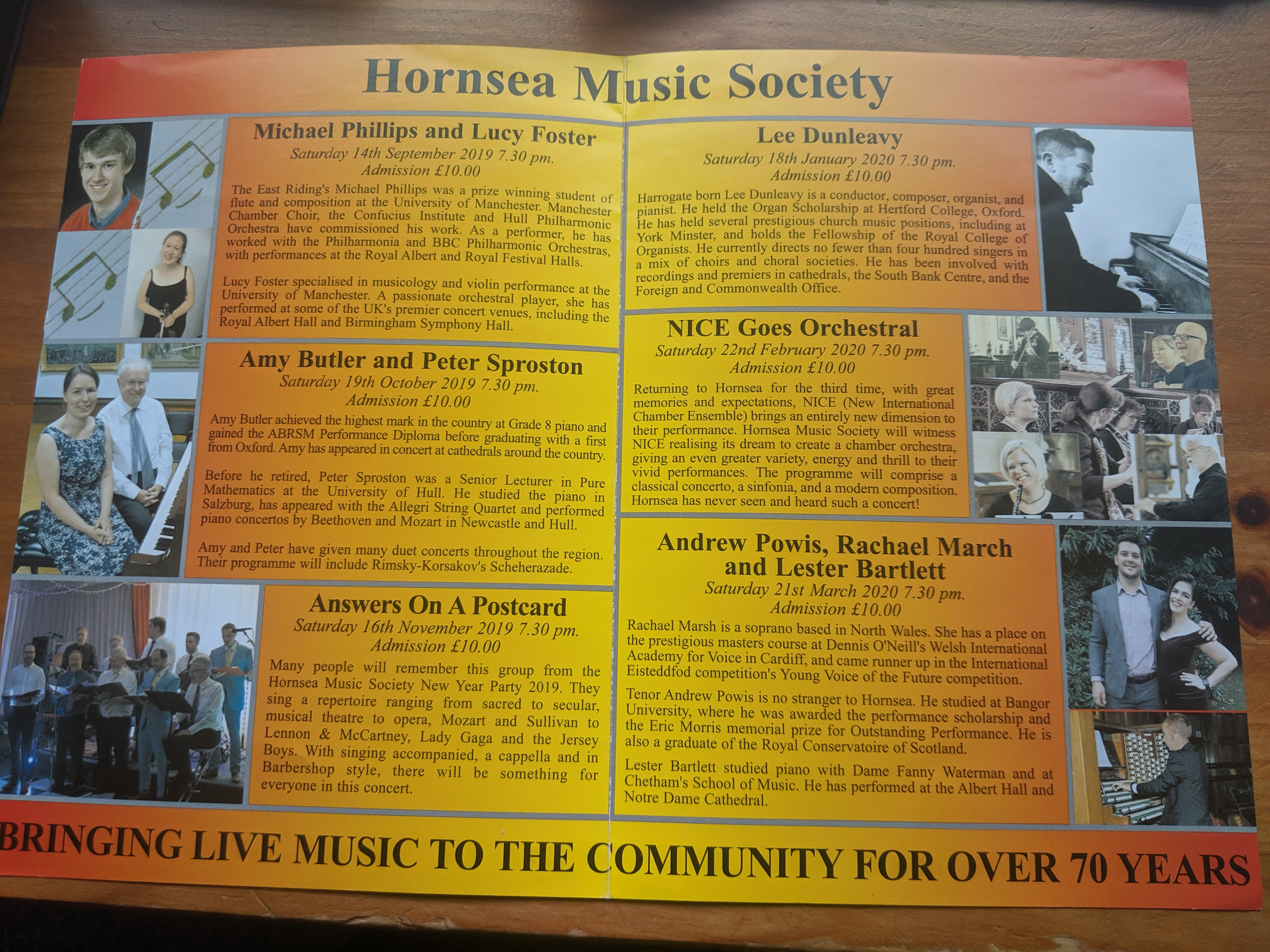 Donation to Hornsea Music Society